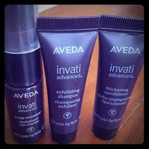 AVEDA Invati set shampoo, conditioner, revitalizer
